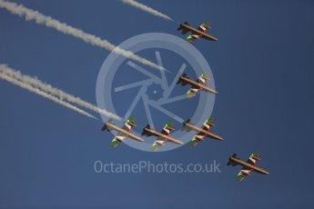 World © Octane Photographic Ltd. UAE Al Fursan (The Knights) Air Display Team – Aermacchi MB-339A. Saturday 26th November 2016, F1 Abu Dhabi GP - Yas Marina circuit, Abu Dhabi. Digital Ref :