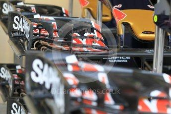 World © Octane Photographic Ltd. Scuderia Toro Rosso STR11 – front wings. Thursday 24th November 2016, F1 Abu Dhabi GP - Pitlane, Yas Marina circuit, Abu Dhabi. Digital Ref :
