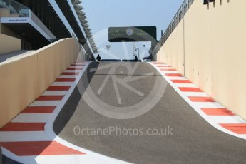 World © Octane Photographic Ltd. Pit exit. Thursday 24th November 2016, F1 Abu Dhabi GP - Pitlane, Yas Marina circuit, Abu Dhabi. Digital Ref :