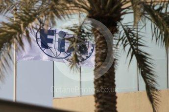 World © Octane Photographic Ltd. FIA flag. Thursday 24th November 2016, F1 Abu Dhabi GP - Paddock, Yas Marina circuit, Abu Dhabi. Digital Ref :