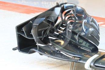 World © Octane Photographic Ltd. McLaren Honda MP4-31 – Front wing. Thursday 24th November 2016, F1 Abu Dhabi GP - Pitlane, Yas Marina circuit, Abu Dhabi. Digital Ref :