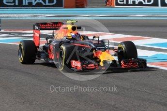 World © Octane Photographic Ltd. Red Bull Racing RB12 – Max Verstappen. Friday 25th November 2016, F1 Abu Dhabi GP - Practice 1, Yas Marina circuit, Abu Dhabi. Digital Ref :