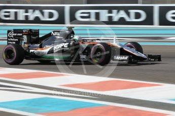 World © Octane Photographic Ltd. Sahara Force India VJM09 Development Driver – Alfonso Celis. Friday 25th November 2016, F1 Abu Dhabi GP - Practice 1, Yas Marina circuit, Abu Dhabi. Digital Ref :