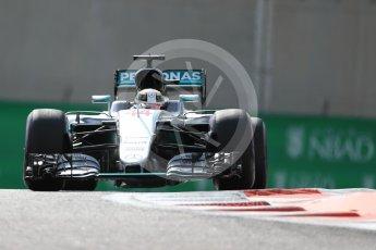 World © Octane Photographic Ltd. Mercedes AMG Petronas W07 Hybrid – Lewis Hamilton. Friday 25th November 2016, F1 Abu Dhabi GP - Practice 1. Yas Marina circuit, Abu Dhabi. Digital Ref : 1756LB1D8028