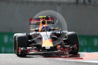 World © Octane Photographic Ltd. Red Bull Racing RB12 – Max Verstappen. Friday 25th November 2016, F1 Abu Dhabi GP - Practice 1, Yas Marina circuit, Abu Dhabi. Digital Ref : 1756LB1D8200