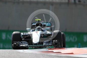 World © Octane Photographic Ltd. Mercedes AMG Petronas W07 Hybrid – Nico Rosberg. Friday 25th November 2016, F1 Abu Dhabi GP - Practice 1. Yas Marina circuit, Abu Dhabi. Digital Ref : 1756LB1D8214