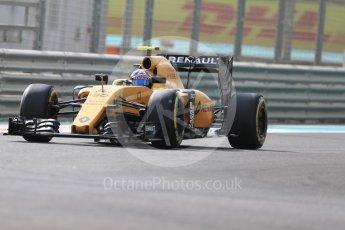World © Octane Photographic Ltd. Renault Sport F1 Team RS16 – Jolyon Palmer. Friday 25th November 2016, F1 Abu Dhabi GP - Practice 1, Yas Marina circuit, Abu Dhabi. Digital Ref : 1756LB1D8413