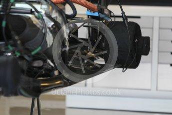 World © Octane Photographic Ltd. Sahara Force India VJM09 - Floor detail. Friday 25th November 2016, F1 Abu Dhabi GP - Practice 1, Yas Marina circuit, Abu Dhabi. Digital Ref :