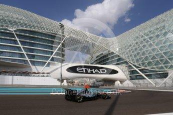World © Octane Photographic Ltd. Mercedes AMG Petronas W07 Hybrid – Nico Rosberg. Friday 25th November 2016, F1 Abu Dhabi GP - Practice 1. Yas Marina circuit, Abu Dhabi. Digital Ref : 1756LB2D7343