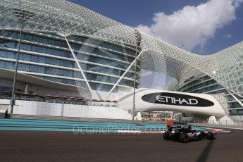 World © Octane Photographic Ltd. Sahara Force India VJM09 Development Driver – Alfonso Celis. Friday 25th November 2016, F1 Abu Dhabi GP - Practice 1, Yas Marina circuit, Abu Dhabi. Digital Ref : 1756LB2D7372