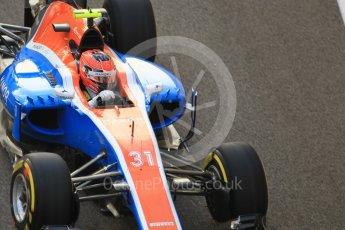World © Octane Photographic Ltd. Manor Racing MRT05 – Esteban Ocon. Friday 25th November 2016, F1 Abu Dhabi GP - Practice 2, Yas Marina circuit, Abu Dhabi. Digital Ref :
