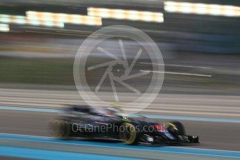 World © Octane Photographic Ltd. McLaren Honda MP4-31 – Jenson Button. Friday 25th November 2016, F1 Abu Dhabi GP - Practice 2, Yas Marina circuit, Abu Dhabi. Digital Ref :