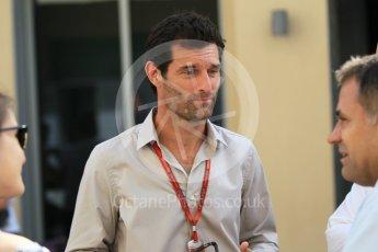 World © Octane Photographic Ltd. Mark Webber. Saturday 26th November 2016, F1 Abu Dhabi GP - Practice 3, Yas Marina circuit, Abu Dhabi. Digital Ref :