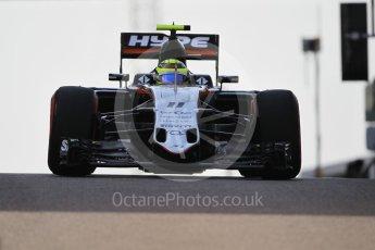 World © Octane Photographic Ltd. Sahara Force India VJM09 - Sergio Perez. Saturday 26th November 2016, F1 Abu Dhabi GP - Practice 3, Yas Marina circuit, Abu Dhabi. Digital Ref :