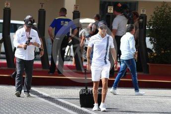 World © Octane Photographic Ltd. Williams Martini Racing, Williams Mercedes FW38 – Felipe Massa. Saturday 26th November 2016, F1 Abu Dhabi GP - Paddock, Yas Marina circuit, Abu Dhabi. Digital Ref : 1764LB1D0055