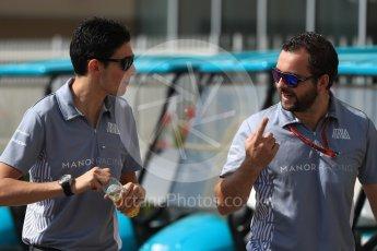 World © Octane Photographic Ltd. Manor Racing MRT05 – Esteban Ocon. Saturday 26th November 2016, F1 Abu Dhabi GP - Paddock, Yas Marina circuit, Abu Dhabi. Digital Ref : 1764LB1D0404