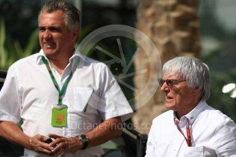 World © Octane Photographic Ltd. Bernie Ecclestone arrives to circuit. Saturday 26th November 2016, F1 Abu Dhabi GP - Paddock, Yas Marina circuit, Abu Dhabi. Digital Ref : 1764LB1D9455