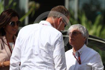 World © Octane Photographic Ltd. Bernie Ecclestone arrives to circuit. Saturday 26th November 2016, F1 Abu Dhabi GP - Paddock, Yas Marina circuit, Abu Dhabi. Digital Ref : 1764LB1D9467