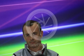 World © Octane Photographic Ltd. F1 GP FIA Personnel Press Conference, Yas Marina circuit, Abu Dhabi. Friday 25th November 2016. Stephen Fitzpatrick – owner of Manor Racing. Digital Ref :