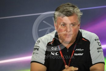 World © Octane Photographic Ltd. F1 GP FIA Personnel Press Conference, Yas Marina circuit, Abu Dhabi. Friday 25th November 2016. Otmar Szafnauer – COO (Chief Operating Officer) Sahara Force India. Digital Ref :