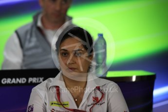 World © Octane Photographic Ltd. F1 GP FIA Personnel Press Conference, Yas Marina circuit, Abu Dhabi. Friday 25th November 2016. Monisha Kaltenborn – Team Principal Sauber F1 Team. Digital Ref :