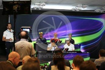 World © Octane Photographic Ltd. F1 FIA Driver Press Conference part1, Yas Marina circuit, Abu Dhabi. Thursday 24th November 2016. McLaren Honda – Jenson Button, Williams Martini Racing – Felipe Massa, Sauber F1 Team – Felipe Nasr, Scuderia Ferrari – Kimi Raikkonen and Red Bull Racing – Max Verstappen. Digital Ref :
