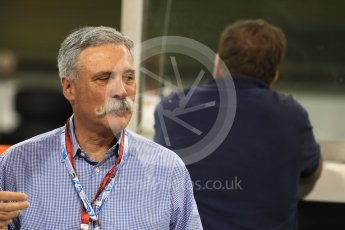 World © Octane Photographic Ltd. Saturday 26th November 2016, F1 Abu Dhabi GP2 Race - Grid, Yas Marina circuit, Abu Dhabi. Chase Carey - Vice Chairman of the 21st Century Fox media conglomerate and the Chairman of the Formula One Group/Liberty Media. Digital Ref :