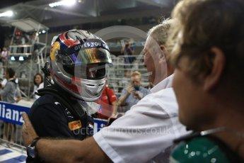 World © Octane Photographic Ltd. Prema Racing - GP2/11 – Pierre Gasly and Dr.Helmut Marko. Saturday 26th November 2016, GP2 Race 1, Yas Marina Circuit, Abu Dhabi. Digital Ref :