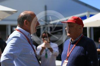 World © Octane Photographic Ltd. McLaren Honda - Ron Dennis and Niki Lauda. Sunday 20th March 2016, F1 Australian GP, Melbourne, Albert Park, Australia. Digital Ref : 1523LB1D6017