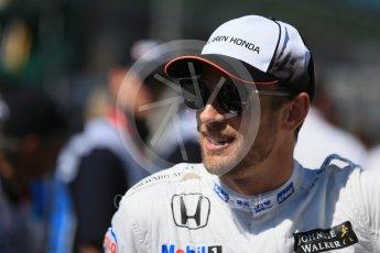 World © Octane Photographic Ltd. McLaren Honda – Jenson Button. Sunday 20th March 2016, F1 Australian GP - Drivers Parade, Melbourne, Albert Park, Australia. Digital Ref : 1523LB1D6308