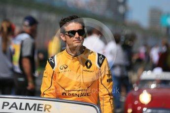 World © Octane Photographic Ltd. Renault Sport F1 Team – Jolyon Palmer. Sunday 20th March 2016, F1 Australian GP - Drivers Parade, Melbourne, Albert Park, Australia. Digital Ref : 1523LB1D6327