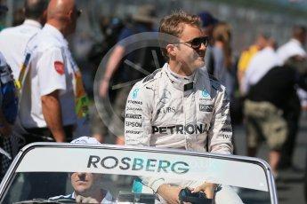 World © Octane Photographic Ltd. Mercedes AMG Petronas – Nico Rosberg. Sunday 20th March 2016, F1 Australian GP - Drivers Parade, Melbourne, Albert Park, Australia. Digital Ref : 1523LB1D6413