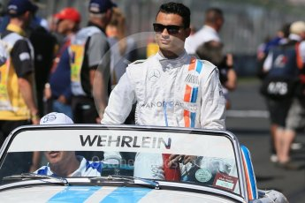 World © Octane Photographic Ltd. Manor Racing - Pascal Wehrlein. Sunday 20th March 2016, F1 Australian GP - Drivers Parade, Melbourne, Albert Park, Australia. Digital Ref : 1523LB1D6463