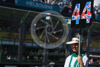 World © Octane Photographic Ltd. Mercedes AMG Petronas – Lewis Hamilton. Sunday 20th March 2016, F1 Australian GP - Grid, Melbourne, Albert Park, Australia. Digital Ref : 1523LB1D6604