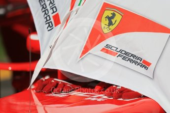 World © Octane Photographic Ltd. Scuderia Ferrari – Sebastian Vettel. Sunday 20th March 2016, F1 Australian GP - Grid, Melbourne, Albert Park, Australia. Digital Ref : 1523LB1D6787