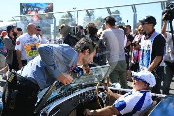 World © Octane Photographic Ltd. Mark Webber. Sunday 20th March 2016, F1 Australian GP - Grid, Melbourne, Albert Park, Australia. Digital Ref : 1523LB5D2034
