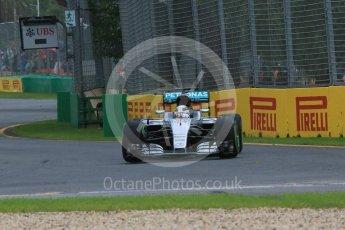 World © Octane Photographic Ltd. Mercedes AMG Petronas W07 Hybrid – Lewis Hamilton. Friday 18th March 2016, F1 Australian GP Practice 1, Melbourne, Albert Park, Australia. Digital Ref : 1516LB1D2092