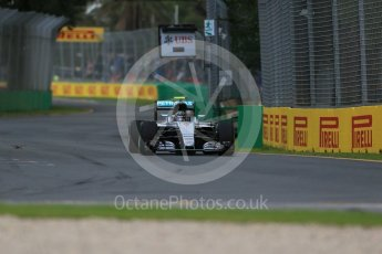 World © Octane Photographic Ltd. Mercedes AMG Petronas W07 Hybrid – Nico Rosberg. Friday 18th March 2016, F1 Australian GP Practice 1, Melbourne, Albert Park, Australia. Digital Ref : 1516LB1D2157