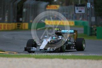 World © Octane Photographic Ltd. Mercedes AMG Petronas W07 Hybrid – Nico Rosberg. Friday 18th March 2016, F1 Australian GP Practice 1, Melbourne, Albert Park, Australia. Digital Ref : 1516LB1D2163