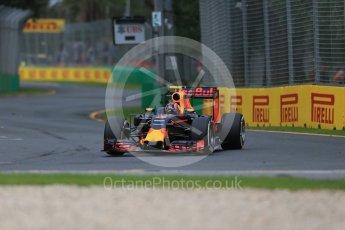 World © Octane Photographic Ltd. Red Bull Racing RB12 - Daniil Kvyat. Friday 18th March 2016, F1 Australian GP Practice 1, Melbourne, Albert Park, Australia. Digital Ref : 1516LB1D2340