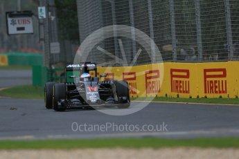 World © Octane Photographic Ltd. McLaren Honda MP4-31 – Fernando Alonso. Friday 18th March 2016, F1 Australian GP Practice 1, Melbourne, Albert Park, Australia. Digital Ref : 1516LB1D2415