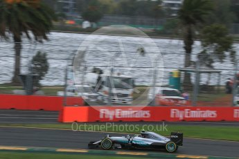 World © Octane Photographic Ltd. Mercedes AMG Petronas W07 Hybrid – Nico Rosberg. Friday 18th March 2016, F1 Australian GP Practice 1, Melbourne, Albert Park, Australia. Digital Ref : 1516LB1D2798