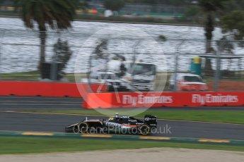World © Octane Photographic Ltd. Sahara Force India VJM09 - Sergio Perez. Friday 18th March 2016, F1 Australian GP Practice 1, Melbourne, Albert Park, Australia. Digital Ref : 1516LB1D2859