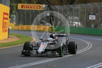 World © Octane Photographic Ltd. McLaren Honda MP4-31 – Fernando Alonso. Friday 18th March 2016, F1 Australian GP Practice 1, Melbourne, Albert Park, Australia. Digital Ref : 1516LB5D1168