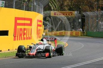 World © Octane Photographic Ltd. Haas F1 Team VF-16 - Esteban Gutierrez. Friday 18th March 2016, F1 Australian GP Practice 1, Melbourne, Albert Park, Australia. Digital Ref : 1516LB5D1177