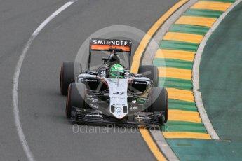 World © Octane Photographic Ltd. Sahara Force India VJM09 - Nico Hulkenberg. Saturday 19th March 2016, F1 Australian GP Qualifying, Melbourne, Albert Park, Australia. Digital Ref : 1521LB1D5175