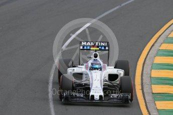 World © Octane Photographic Ltd. Williams Martini Racing, Williams Mercedes FW38 – Valtteri Bottas. Saturday 19th March 2016, F1 Australian GP Qualifying, Melbourne, Albert Park, Australia. Digital Ref : 1521LB1D5365