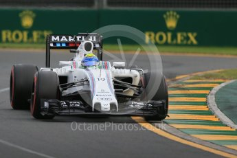 World © Octane Photographic Ltd. Williams Martini Racing, Williams Mercedes FW38 – Felipe Massa. Saturday 19th March 2016, F1 Australian GP Qualifying, Melbourne, Albert Park, Australia. Digital Ref : 1521LB1D5499
