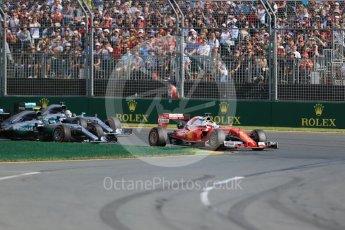 World © Octane Photographic Ltd. Scuderia Ferrari SF16-H – Sebastian Vettel. Sunday 20th March 2016, F1 Australian GP Race, Melbourne, Albert Park, Australia. Digital Ref : 1524LB1D6925