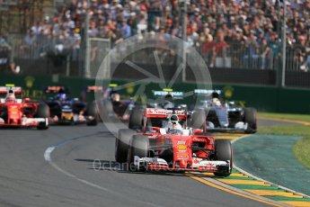 World © Octane Photographic Ltd. Scuderia Ferrari SF16-H – Sebastian Vettel. Sunday 20th March 2016, F1 Australian GP Race, Melbourne, Albert Park, Australia. Digital Ref : 1524LB1D6941